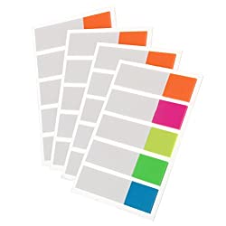 Sicai 400 Pieces Index Flags Tabs Sticky Note For Page Marker 4 Sheets