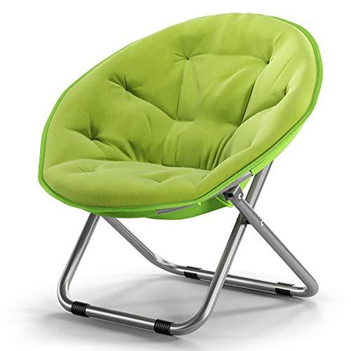 Großer Loungesessel Erwachsene Moon Chair Sonnenliegen Lazy Chair Radar Chair Klappstuhl Round Chair Sofa Chair (Farbe: Grün) -