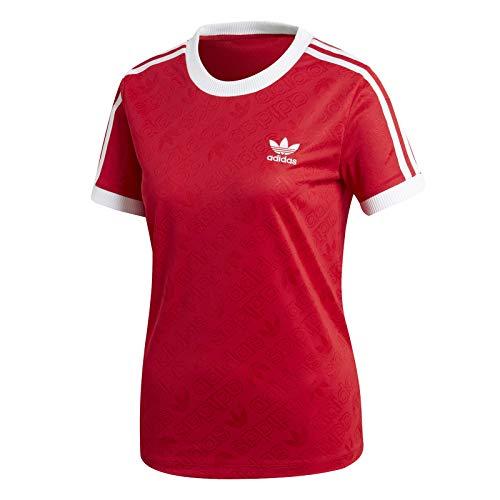 adidas Originals T-Shirt Damen 3 STR Tee ED7488 Rot, Size:38