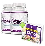 Revolyn Ultra - Schlankheitspille für effizienten Gewichtsverlust | Jetzt das 2 Flaschen-Paket mit Rabatt kaufen | (2 Flaschen) | Gratis dazu unser 7-Tage-Keto-Kochbuch