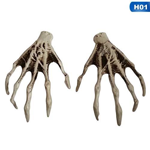 Dunkle Kostüm Klaue - KBWL Halloween Skelett Hand Klaue Skelett Hexe/Geist/Skelett Streich Skelett Klaue für Haunted House Horror Requisiten Party Decor 01