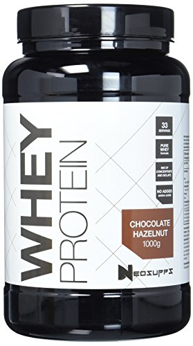 Premium Whey Protein für Muskelaufbau & Abnehmen in leckeren Geschmäckern | Low Carb Eiweiß-Shake, Eiweiß-Pulver mit Aminosäuren (BCAA) | 1kg NeoSupps Protein Pulver – Schokolade Haselnuss