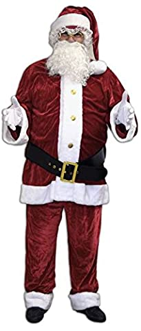 Costume pere noel us luxe velours polyester taille xxl (58-60)