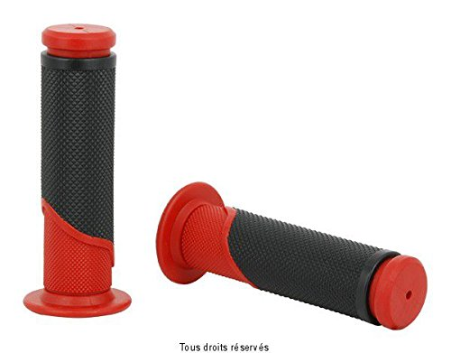 Sifam Poignées Bicolores Moto Rouge/Noir L 120mm Ø 22