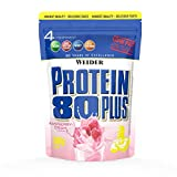 WEIDER Protein 80 Plus Eiweißpulver, Himbeer-Sahne, Low-Carb,...