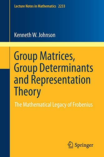 Group Matrices, Group Determinants and Representation Theory: The Mathematical Legacy of Frobenius (Lecture Notes in Mathematics (2233), Band 2233)