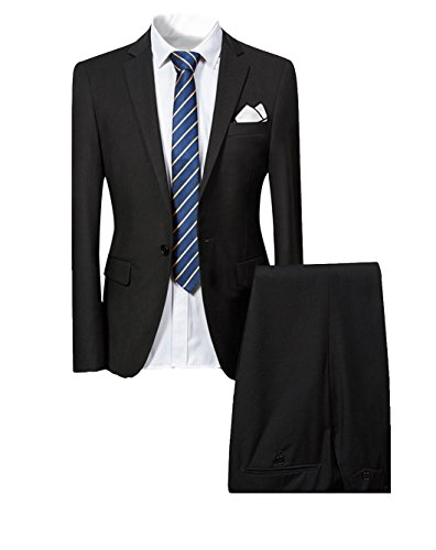 Cloudstyle Mens Smart 2 Piece Suit Slim Fit Single Breasted Blazer Jacket and Trousers