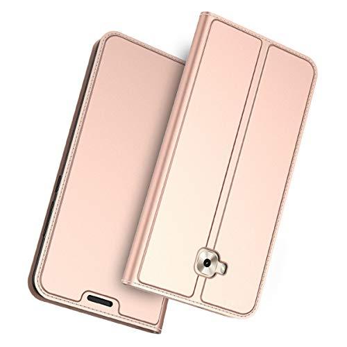 Forhouse Kompatibel mit Asus Zenfone 4 Selfie ZD553KL Leder Hülle, Premium PU Ledertasche etui Schutzhülle Tasche mit Ständer Slim Flip Case für Asus Zenfone 4 Selfie ZD553KL (Rose Gold)