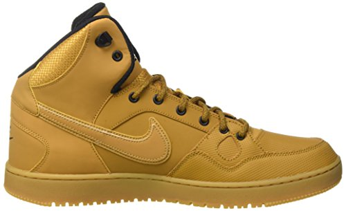 Nike Son of Force Mid Winter, Chaussures de Sport-Basketball Homme Multicolore - Marrón / Beige / Amarillo / Negro (Wheat/Wheat-Black-Gm Lght Brwn)