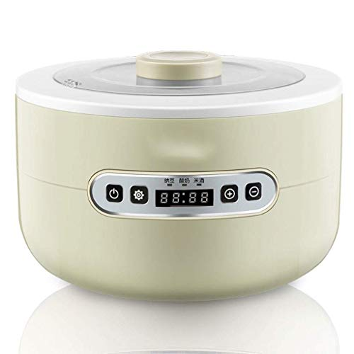 Adesign Joghurt Maker Machine Perfect, Plain oder zuckerfreie Optionen for Baby, Kids Home Kleine automatische Mini-Multifunktions-hausgemachte Reiswein Natto