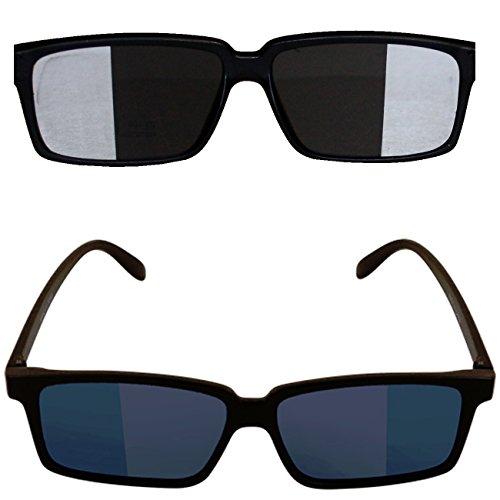 2 x Detektivsonnenbrille mit Rückspiegel verspiegelte Brillen Sonnenbrille Komplettrillen...