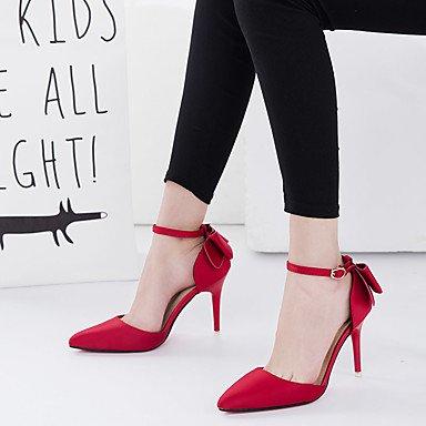 LYNXL Talloni delle donne Primavera Estate Club calzature Pelletteria Wedding ufficio & carriera Party & Sera tacco a spillo di Bowknot Nero Rosa Rosso Grigio Altro Gray
