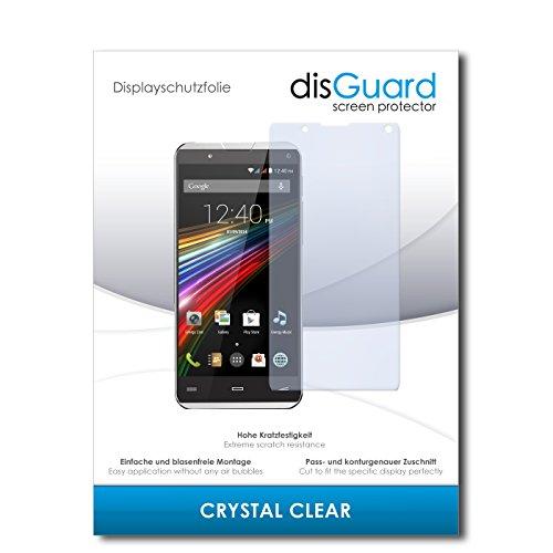 disGuard® Bildschirmschutzfolie [Crystal Clear] kompatibel mit Energy Sistem Phone Pro Qi [3 Stück] Kristallklar, Transparent, Unsichtbar, Extrem Kratzfest, Anti-Fingerabdruck - Panzerglas Folie, Schutzfolie
