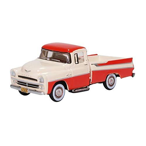 Oxford 87DP57001 Dodge D100 Sweptside Pickup rot/beige Maßstab 1:87 Beige Oxford
