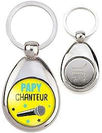 Reloadshop Porte-Clés Métal Papy Chanteur - Micro - Humour Idée Cadeau  Homme Grands Parents 50e8554c350