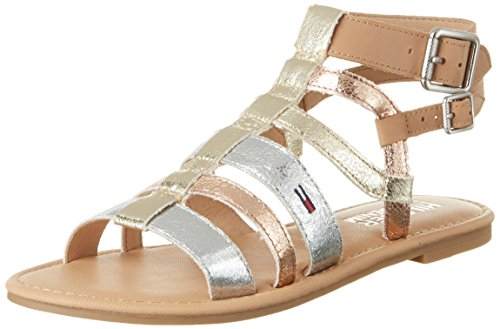 Tommy Hilfiger Damen S1385USY 3S Römersandalen, Gold (Light Gold-Silver-Rose Gold 901), 40 EU