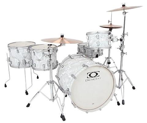 Drum Craft Series 7 DC807452 Rock Birch Drum Set Shell Pack, Liquid Chrome