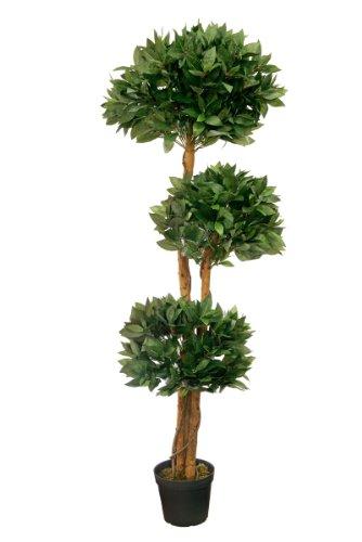 Lorbeerbaum 1,50 m künstlich Kunstbaum Kunstpflanze Echtholzstamm