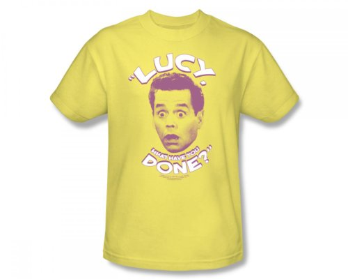 I Love Lucy - What Have You Done Adult T-Shirt In Banana, XX-Large, Banana