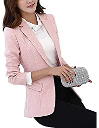 Mujer Outerwear Primavera Otoño Manga Larga Slim Fit De Solapa Informales Modernas  Casual Fashion Elegantes Chaqueta De Traje Negocios… ee5f409a7a04