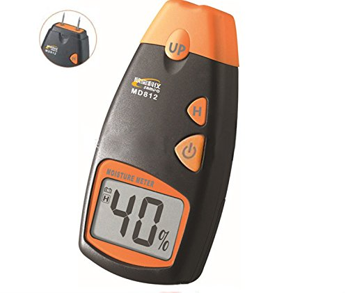 Symbol and unit display Digital 5% to 40% Wood moisture tester MD814