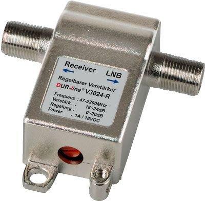 Inline Verstärker Regelbar 24dB, 47-2200MHz (2 Stück)