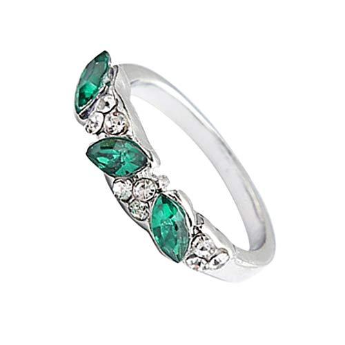 Innerternet Damen Ring Retro Smaragd Ring süßer Diamantring Weiblicher Ring Zeigefinger Dekoration Geschenk für Mutter Freundin Tochter Mädchen (verlobungsringe) (Kinder Verlobungsringe)
