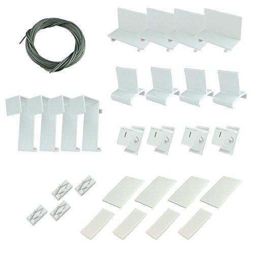 VICTORIA M Set di accessori EasyFix / Set completo di pezzi di ricambio per Tende Plissé Easyfix
