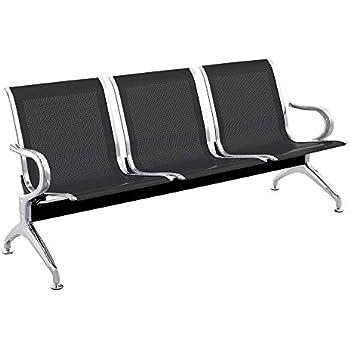 Chaises sur poutre pour salle dattente avec 4 si/èges ergonomique dargent PrimeMatik