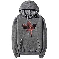 zxc Top Men 'S Sweater con Sombrero Abrigo Talla Grande,Gris Oscuro,L