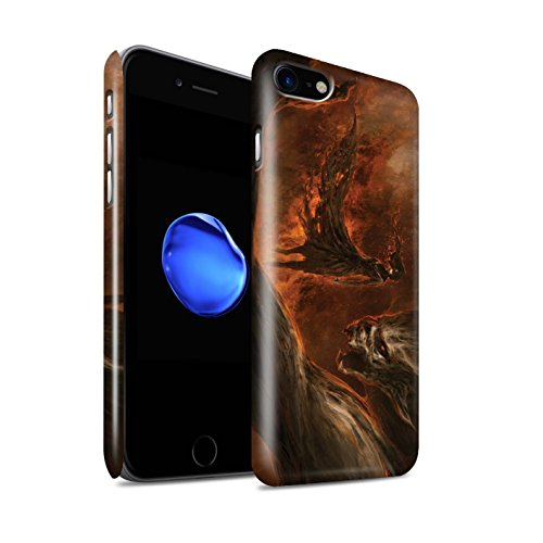 Offiziell Chris Cold Hülle / Glanz Snap-On Case für Apple iPhone 8 / Getarnte Teufel Muster / Dunkle Kunst Dämon Kollektion Der Anrufer