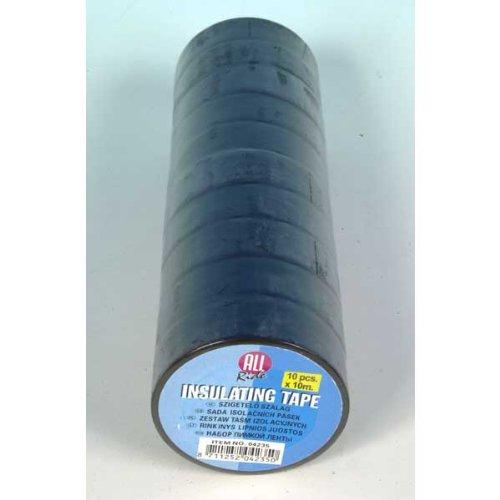 Lifetime tools 4235 - Nastri isolanti (10 unità, pvc, 10 x 18 mm), colore nero