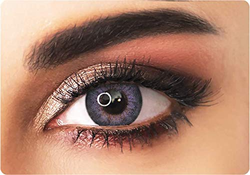 Farbige kontaktlinsen in LILA mit dunklen Kreises- 3 Monaten- ohne Stärke + gratis Kontaktlinsenbehälte ADORE- Dare collection - DARE VIOLET