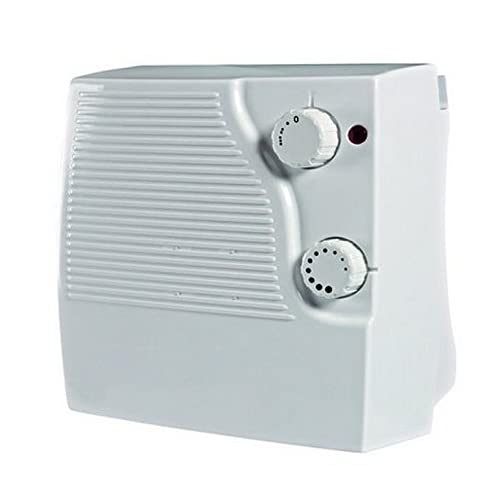 THERMOSTAT DOWNFLOW 2kw Bathroom Bedroom Small Electric Fan Heater Wall Mounted