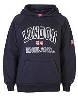 Childrens London Hoody By Love LolaŽ Boys Sweatshirts Girls Souvenir Hoodies (Age 9/10, Navy)