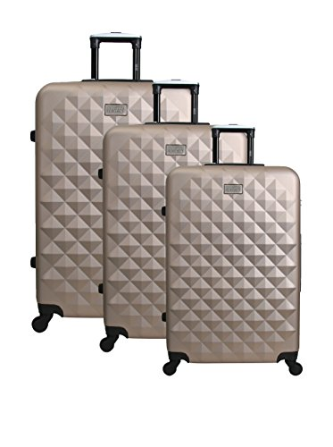 UNANYME GEORGES RECH Suitcase Strasbourg, Set of 3, 70 cm, 96 L, Champagne