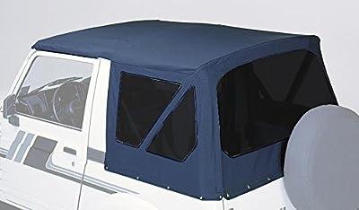 BESTOP/Pavement Ends Capote de rechange Suzuki Samurai/SJ 410+ 413(1982–1999) Capote avec vitres teintées disques–Noir