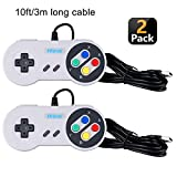 Hizue SNES USB Classic Controller Gamepad Joypads (2 Pack,10ft/3M),Super SNES Retro Joystick für PC,Windows,Ubuntu Linux,Android/RetroPie,Raspberry Pi 3,Recalbox/Genesis,SNES,NES