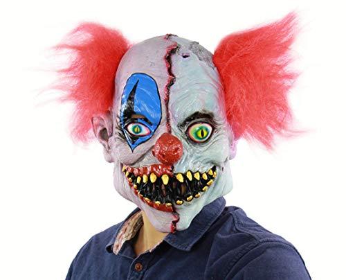 Latex-Maske Für Halloween, Clown-Maske, Terroristische Gesichts-Clown-Maske, Prank-Maske Gesicht Beängstigend Halloween-Kostüm-Party, Bar-Requisiten, Maskerade