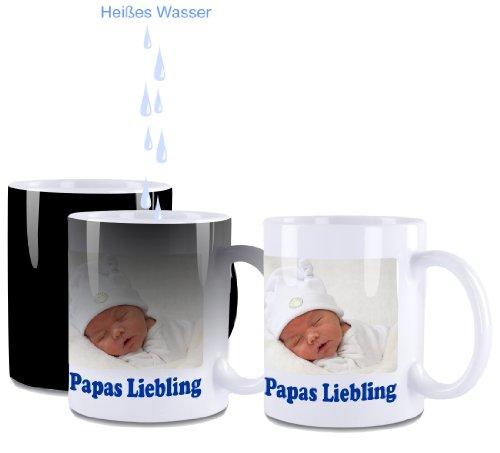 Farbwechseltasse, Kaffeetasse, Kaffeepott mit Wunschdruck - Foto, Grafik, Logo, Wunschtext.