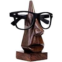 Regalos Madera Nariz en Forma de Gafas Titular Soporte de Escritorio Organizador de Escritorio decoración del hogar (marrón)