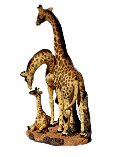 Giraffe mit Baby Kind Tierfigur Giraffen Skulptur