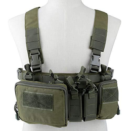 DETECH Taktische Weste Airsoft Ammo Chest Rig mit Taschen