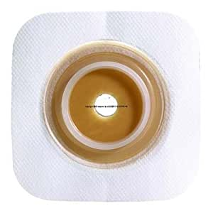 """ConvaTec Box of 10 SUR-FIT Natura Stomahesive Flexible Skin Barrier (G) 4"""" x 4"""" Flange 1 3/4"""" Tan 125264"""
