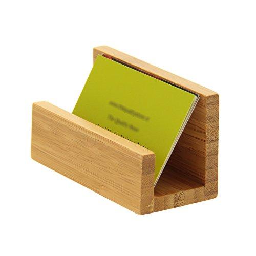 Soporte para la tarjeta de bambú es una forma de mostrar sus tarjetas de visita y organizar tus contactos en la oficina y en el hogar. bambú es un material ideal para escritorio, muebles, por lo tanto agradable a la vista y lo suficientemente resiste...