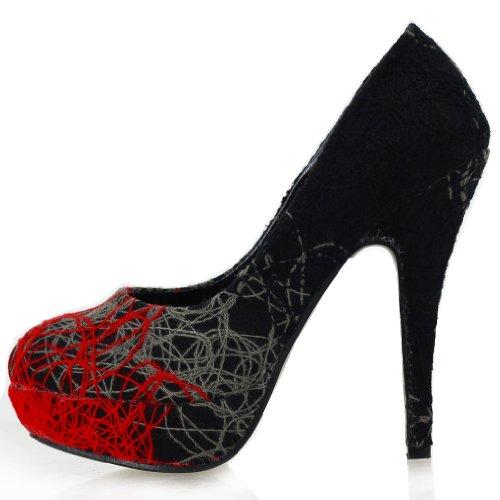 Show Story, Scarpe con plateau donna Rosso (rosso)