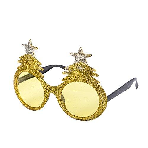 novelty-christmas-theme-glasses-christmas-tree-santa-reindeer-snowflake-etc-gold-xmas-tree
