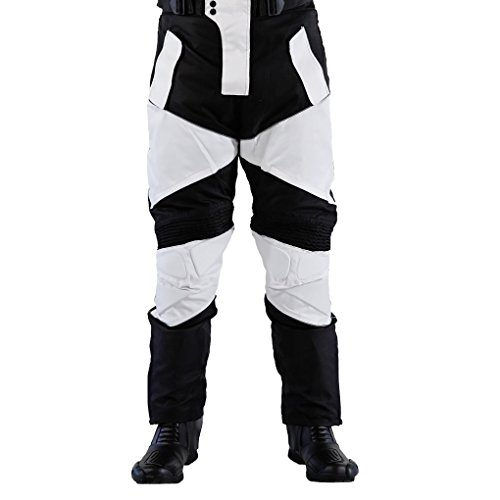 Lemoko Textil Motorradhose Farbe schwarz/weiß Gr XL