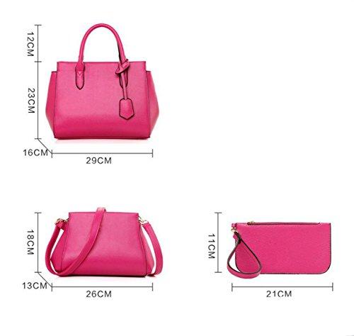 Damen Europa Und Die Vereinigten Staaten Einfache Dreiteilige Paket Paket Mode Messenger Bag Schultertasche Handtasche Blue