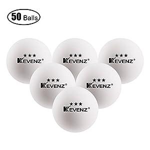 50 Stück Kevenz 3 Sterne Übung Tischtennisball Dauerhaft Ping Pong...